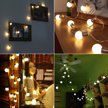 10 LED Retro Bulb Balls String Lights Wedding Party Home Decor Fairy Light Lamp
