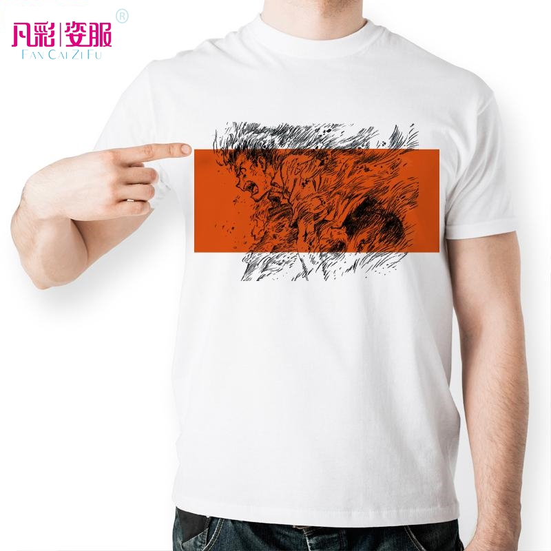 Neon Genesis Evangelion Shinji Ikari Go Ballistic Printed T Shirt Fashion O-neck T-shirt White Short Sleeve Tshirt Men
