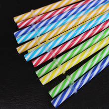 50 Pc/Lot Reusable Biodegradable Distored Color Beverage Hard Plastic Stripe drinking Straws E270(China)