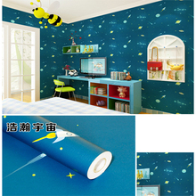 DIY PVC waterproof Wallpaper printing Wall Paper For dorm Living Room Tv Background Covering kids desk bed cartoon wall stickers(China)