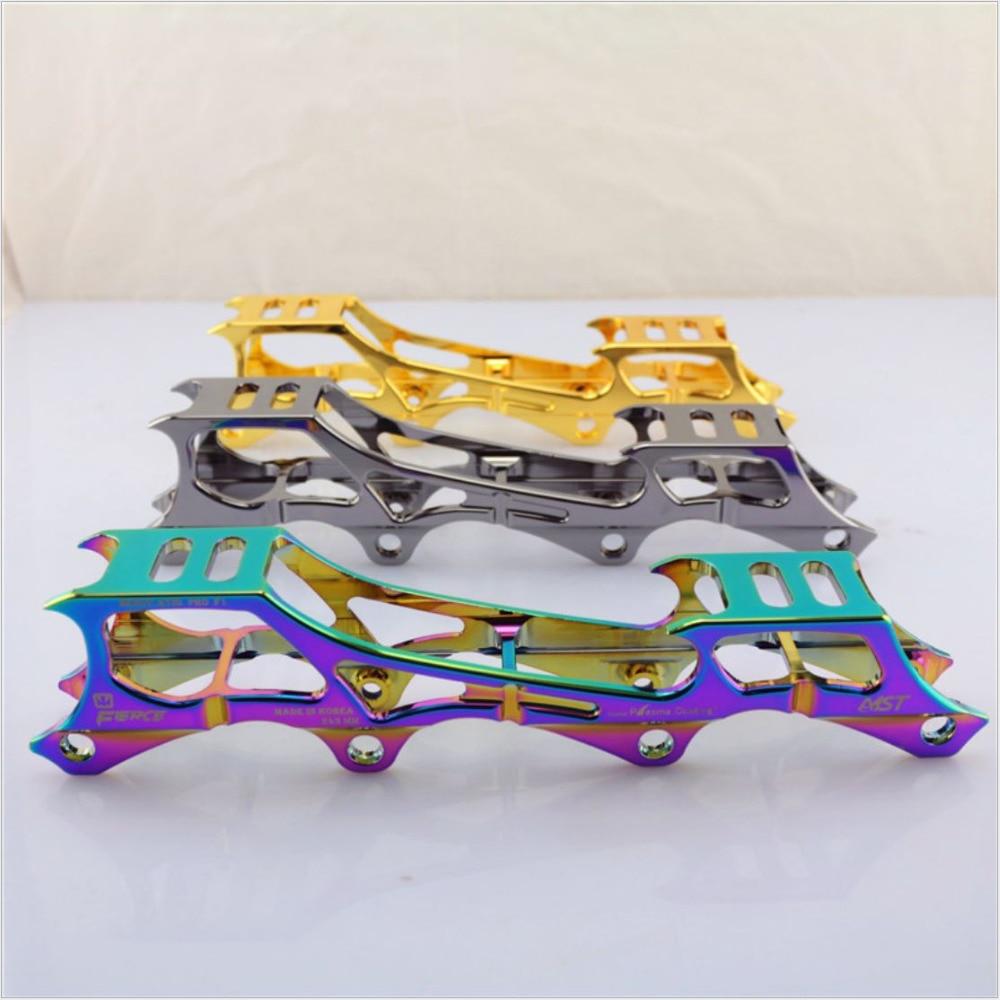 Quality Rockered 7075 Aluminum inline roller Skate FRAME 231&amp;243mm patins inline blade Slalom skate shoes racks FSK skate holder<br>