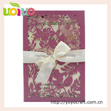 Discount elegant flower pocket wedding invitation card wedding decoration lace fancy birthday cards printing available(China)