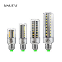 1Pcs Honest Watt & Lumen 5736 SMD LED Corn Bulb E27 5W 7W 9W 12W 15W 18W 20W 85V-265V No Flicker Aluminum Cooling LED lamp light(China)