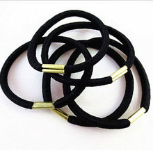 10pcs/lot Black Hair Holders Elasticity Rubber Hair Band Tie Hair for Girl Women / Hair Accessories(China)