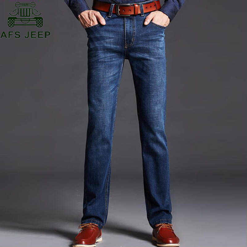 AFS JEEP 2017 Men Jeans Straight Casual Fashion Skinny Jeans Men Big Size 28-40 Slim Fit Stretch Mens Trousers Jeans HommeÎäåæäà è àêñåññóàðû<br><br>