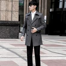 YIYELANZHOU Medium-long wool coat men teenage plus size S - 9XL casual