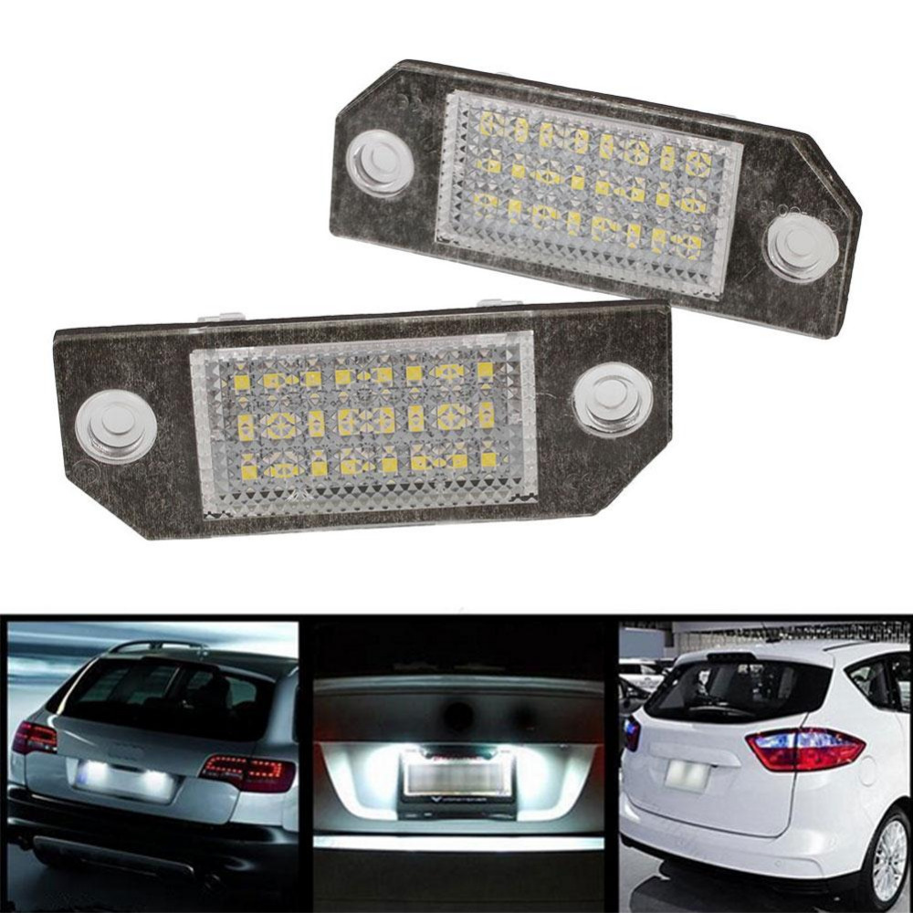 2Pcs 12V White 24 LED Number License Plate Light Lamp for Ford Focus C-MAX MK2 Car Light Source<br><br>Aliexpress