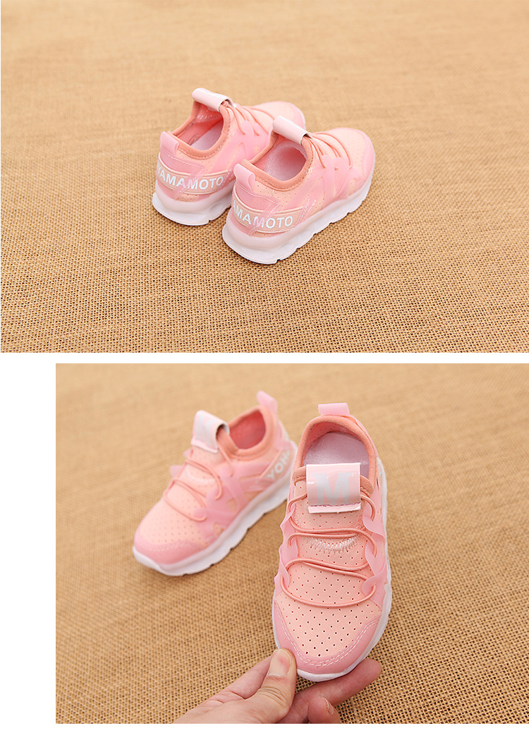 17 New fashion cool net children sneakers LED lighting casual children casual shoes slip on glowing kids baby girls boys shoes 15