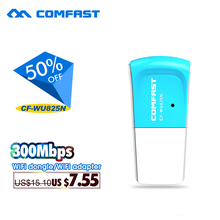 Hot sale 300Mbps mini usb wireless wifi adapter 802.11b/g/n lan adapter card RTL8192EU chipset wifi dongle Comfast CF-WU825N(China)