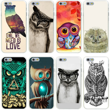 173GG owl we need is love Hard Transparent Cover Case for iphone 4 4s 5 5s se 6 6s 8 plus 7 7 Plus X