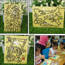 10PCS/LOT 12X16CM Children Kids Drawing Toys Sand Painting Pictures Kid DIY Crafts Education Toy Pattern Random