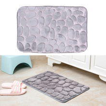 Gray Bathroom Carpet Comfortable Door mat Kitchen Bathroom Toilet WC Mat Non-Slip Flannel non-toxic PVC Bath Mat 40* 60cm(China)