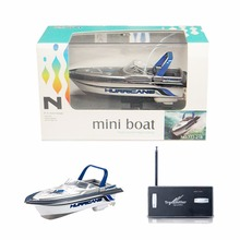 Mini Remote Control Mini Boat Simulation Boat Model RC Wireless Control Motorboat Only 13CM Children's Toys Christmas Gift(China)