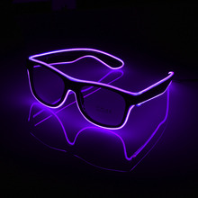 Flashing Glasses EL Wire LED Glasses Glowing Party Supplies Lighting Novelty Gift Bright Light Festival Party Glow Sunglasses(China)