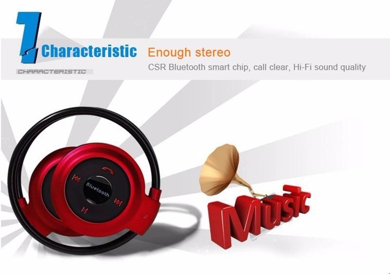 Bluetooth Wireless Headphones Mini 503 4.0 Sport Headsets Music Stereo Earphones+Micro SD Card Slot+FM Radio With Mic