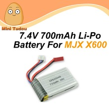 Minitudou RC Helicopter Parts 7.4v Lipo Battery 700mAh 1PC For MJX X600 RC Drone