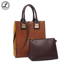Cow Leather Women's Handbags Women Tote Bag Lady Shoulder Crossbody Bags 2pcs/set bolsa feminina bolsos de mujer set sac a main(China)