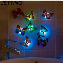 2017 Beautiful Lovely 1pcs 7 Color Changing Beautiful Cute Butterfly LED Night Light Lamp(China)