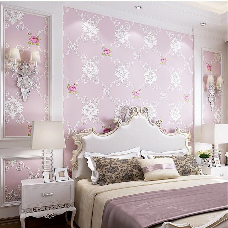 Real Sale Photo Wallpaper Papier Peint 3d Flower Non-woven Wallpaper Sweet Pastoral Bedroom Sofa Tv Background Wall Paper <br>