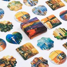 The Beautiful Color Of Paper Stickers Adhesive Stickers DIY Decoration Stickers(China)