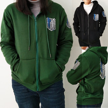 2017 Japan Anime Attack on Titan Hoodies Sweatshirts Coat Halloween Party Eren Levi Hoodies Cosplay Costume Legion Clothing
