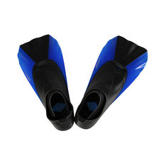 TOPIS swimming training game short fins adult children swim fins snorkeling snorkeling Sambo blue frog shoes diving equipment XX
