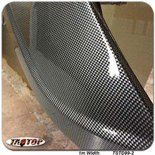 TSTD99-2  1M * 10M transparent  carbon fiber car decoration Hydrographics Film Water Transfer Printing Films