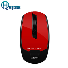 AZZOR Rechargeable Wireless Mouse U8 Slient Button Build-in Lithium Battery 2400 DPI Computer Gamer Silence High Performance