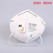 3M 9002V  25pcs pm2.5 Breathable Cool Flow Safety  Breathing valve non woven fabric folding filter Adult N95 dust masks
