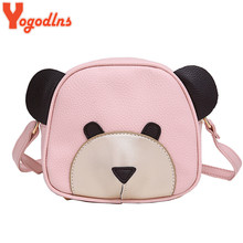Yogodlns Cute Bear Face Women Bag Baby Girl Mini messenger Shoulder Bag For Women Cross Body Bags Lady PU Leather Handbags
