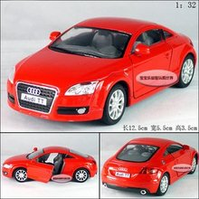 Candice guo toy gift alloy car model 1:32 mini vehicle motor Audi TT 2008 style baby birthday gift christmas present 1pc