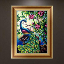 5D Diamond Embroidery Peacock Painting Cross Stitch Art Craft Home Decoration APR21_30
