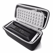 New PU Carry Travel Zipper Protective EVA Storage Hard Case Box Bag for Vtin 20 Watt Waterproof Bluetooth Speaker (Black+Gray)