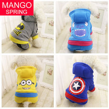 Buy Cute Dog Clothes Warm Pet Coat Puppy Costume Outfit Dog Hoodie Batman Captain America Dog Clothes Small Dogs XS-XXL for $2.99 in AliExpress store