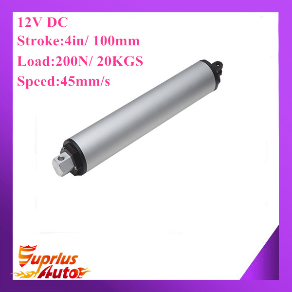 Clearance Sale ! High Speed Tubular Actuator 12V 4/100mm stroke, 200N force, 45mm/s speed actuator linear<br>