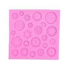 23 Holes Coin Shape Buttons Sugar Mold Silicone Mold Cake Decorating Sugar Cooking Tools Cake Decoration