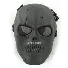 Halloween Black Army Skull Skeleton Airsoft Paintball BB Gun Game Face War Mask(China)