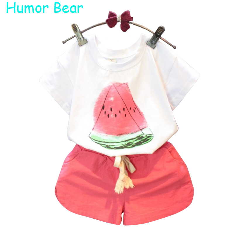 Humor Bear Summer Baby Girls Clothes Set ChildrenS Clothing Fruit T-Shirt + Shorts Suit Clothing Set Girls Suits<br><br>Aliexpress