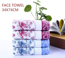 1 pcs 34*74cm Face Flower Towel Soft Cotton Bamboo Fiber for Home Hotel Quick Dry Bathroom Towels Facecloth
