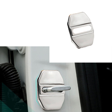 Car Styling for Dodge Journey 09-15 Caliber 08-11 Ram 03-14 Car Door Lock Cover Stainless Steel Cover Door Striker Cover 4PCS