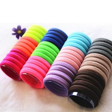 24pcs/lot Women Fluorescence Colorful Hair Holders Rubber Bands Elastics Girl Headwear