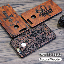 New Brand Thin Luxury Bamboo Wood Phone Case For Huawei P9/P9plus/P9Lite/G9/P10/P10 Plus Cover Wooden High Quality Shockproof(China)