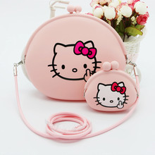 Mini Hello Kitty Coin Purse Cat Cute Female Women's Purse Silicone Wallets Fashion Lovely Children Bags For Girls