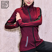 Breathable Women Mesh Patchwork Sport Suit Zipper Yoga Top Sportswear Running Shirt Gym Fitness Clothing Sports Shirt Jacket(China)