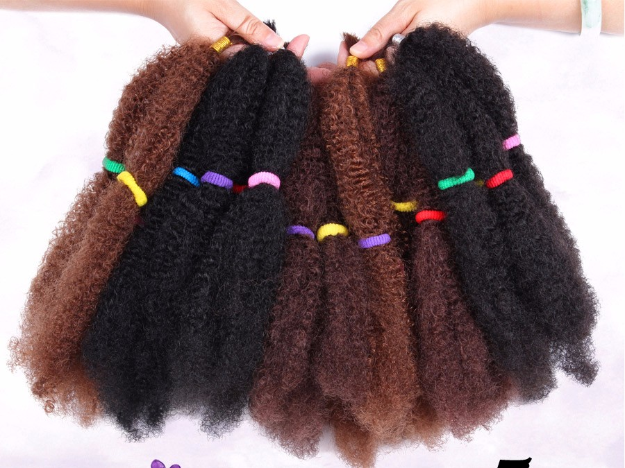 Alileader Afro Bulk Hair 5pcslot Synthetic Hair Extension For Braids