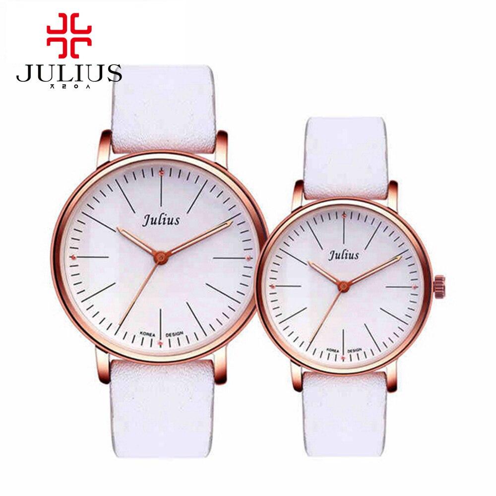 2016 lovers dress Japan quartz wristwatch men women fashion casual watch Leather strap watches Julius 814 clocks hour Wholesale<br>