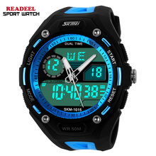 Men Sports Watches Men Electronic Quartz Wristwatch Relogio Digital Analog Alarm Military Watches Led 50m Waterproof Shock Watch