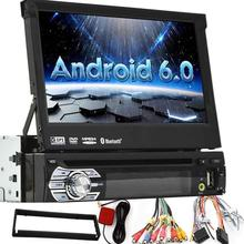 Single Din android 6.0 7 inch Car dvd Stereo,In dash 1080P TFT/LCD Touch Screen Car FM Radio Receiver USB/SD/Bluetooth,MP4/MP