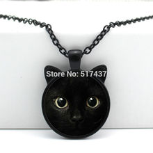 2017 Hot Sale Zinc Women Animal Maxi Necklace Collares Collier New For Cat Pendant Necklace Ear Jewelry Glass Cabochon Cn-00327