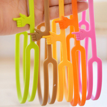 10 Pcs /lot Fashion Kawaii Silicone Colorful Finger Pointing Bookmark Book Mark Funny Gift Office School Supply(China)